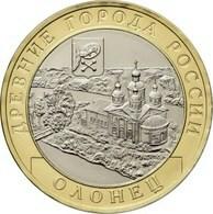 Russia, Olonets, The Republic Of Karelia, 2017 10 Rbl Rubels Rubles Bi-metallic Uncirculated - Russie
