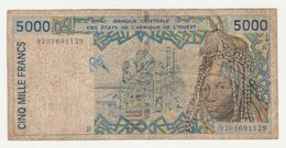 Banque Centrale Des Etats De L'Afrique De L'Ouest (senegal) 5000 Francs - Senegal