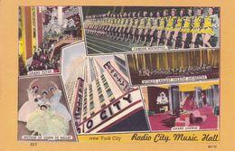 RADIO CITY MUSIC HALL. NEW YORK CITY. ETATS UNIS CPA. NON CIRCULEE -LILHU - Autres Monuments, édifices