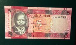 South Sudan, 2015- Five (5) South Sudanese Pounds. UNC - South Sudan