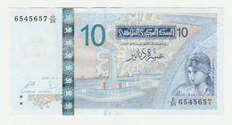 Banque Centrale De Tunisie-tunesia 10 Dinars 2005 UNC - Tunisia