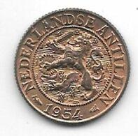 *netherlands Antilles 1 Cent 1954  Km 1  Unc /ms63 - Antillen (Niederländische)