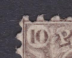 N° 14 VARIETE DOUBLE FRAPPE - 1863-1864 Médaillons (13/16)