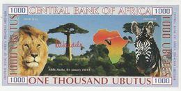 Central Bank Of Africa 1000 Ubutus 2014 UNC (signature: Nelson Mandela) Addis Ababa Ethiopia - Etiopia