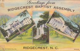 GREETINGS FROM RIDGECREST BAPTIST ASSEMBLY. NORTH CALIFORNIA. ETATS UNIS CPA. CIRCULEE 1941 -LILHU - Etats-Unis