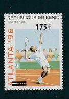 Benin Overprint Tennis Olympic Games Atlanta 1996 New Surcharge  MNH ** RARE ! - Benin - Dahomey (1960-...)