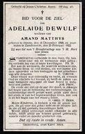 Steene, Stene, Zandvoorde:1922, Adelaide Dewulf, Matthys - Devotion Images