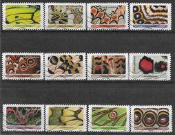 2020 FRANCE Adhesif 1801-12 Oblitérés, Papillons, Série Complète - Adhésifs (autocollants)