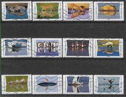 2020 FRANCE Adhesif 1815-26 Oblitérés, Reflet Animaux, Série Complète - Adhésifs (autocollants)