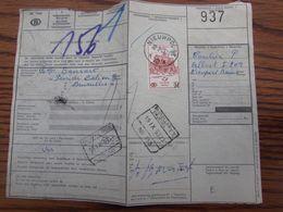 Timbre Chemin De Fer N° 374 Sur Lettre De Voiture Oblitérée De L'AGENCE PROVISOIRE De NIEUWPOORT 10 En 1963 (cote E) - Postmark Collection