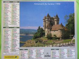 Almanach Du Facteur 1998 - Aveyron (12) - Château De Val Et Château De Bonaguil - Oberthur - Kalender