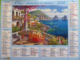 Almanach Du Facteur 2016 - Aveyron (12) - Tableaux De Paysage Provençaux - Oller - Kalender