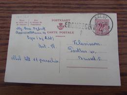 Entier Postal N° 163 (2f Carminé) Oblitéré De AALST En 1957 + GRIFFE D'origine De ERONDEGEM (et STRAATNAAM ?) - Stamped Stationery
