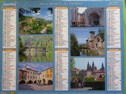 Almanach Du Facteur 2011 - Aveyron (12) - Sur Les Chemins De St Jacques De Compostelle - Oberthur - Kalender