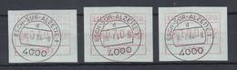 Luxemburg ATM P2503 Tastensatz 4-7-10 Mit ET-O ESCH-SUR-ALZETTE 10.7.84 - Vignettes D'affranchissement