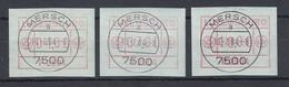 Luxemburg ATM P2504 Tastensatz 4-7-10 Mit ET-O MERSCH 10.7.84 - Vignettes D'affranchissement