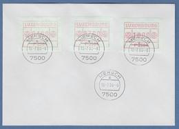 Luxemburg ATM P2504 Tastensatz 4-7-10 Auf Blanco-FDC MERSCH 10.7.84 - Vignettes D'affranchissement