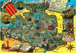 09 - Ariège - Carte Géographique - Blasons - CPM - Voir Scans Recto-Verso - France