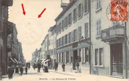 71 SAONE Et LOIRE La Banque De France à Macon + Timbre à Sec Superbe - Macon