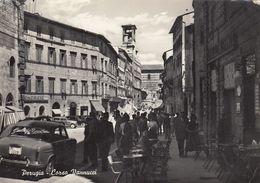 PERUGIA-CORSO VANNUCCI-ANIMATISSIMA-CARTOLINA VERA FOTOGRAFIA- VIAGGIATA IL 26-9-1960 - Perugia