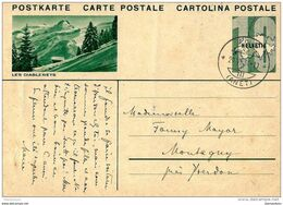 """45 - 108 - Entier Postal Avec Illustration """"Les Diablerets"""" 1934 - Attention Léger Pli - Entiers Postaux"""