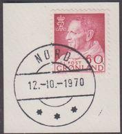 1968. Fr. IX In Anorak. 60 Øre Redlillac NORD 12.-10.-1970.  (Michel 69) - JF364867 - Groenlandia