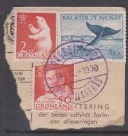 1963. Polar Bear. 2 Kr. QAGSSIARSSUK PR JULIANEHÅB 19-11-1970 Violet. (Michel 59) - JF364882 - Groenlandia