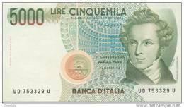 ITALY P. 111c 5000 L 1996 UNC - 5000 Lire