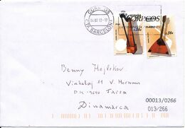 Spain Cover Sent To Denmark Barcelona 4-2-2013 With MUSIC Instruments On The Stamps - 2011-... Lettres