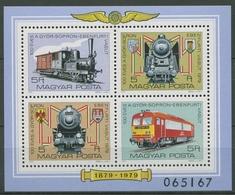 Ungarn 1979 Eisenbahn Lokomotiven Block 139 A Postfrisch (C92557) - Hojas Bloque