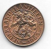 *netherlands Antilles 1 Cent 1963  Km 1  Unc /ms63 - Antillen (Niederländische)