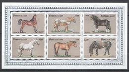 Burkina Faso - 1999 - Horses  - Yv 1159/64 - Caballos