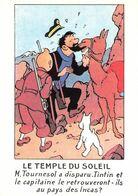 BD Bandes Dessinées Les Aventures De Tintin Le Temple Du Soleil Capitaine Haddock CPM - Comics