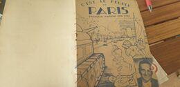 C EST LE PEUPLE DE PARIS/ RENE MARIE MARTIN /ALBERT PAVARD /MARIO BRUNO - Partitions Musicales Anciennes