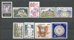 FRANCE ANNEE 1976  N°1870 à 1878 NEUFS** MNH - Nuovi