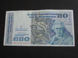 20 Twenty  Pounds 1992 - IRLANDE - The Central Bank Of Ireland   **** EN  ACHAT IMMEDIAT  **** - Ierland