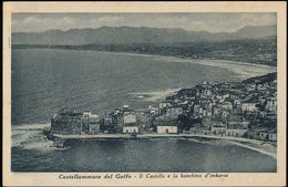 CASTELLAMMARE DEL GOLFO (TRAPANI) IL CASTELLO E LA BANCHINA D'IMBARCO - Trapani