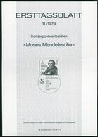 Berlin - 1979 ETB 11/1979 - Mi 601 - 90Pf         Moses Mendelssohn - [5] Berlin