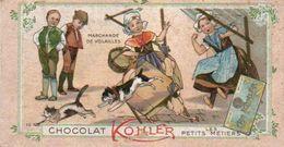 3 Chromos  Chocolat Kohler Les Petits Métiers - Autres