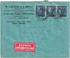 Belgique - Bruxelles - Lettre Express Du 26 Juin 1938 - Leopold III - 1934-1935 Leopold III