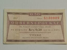 Odberni Poukaz 0.50 Korunas 1971 - Czechoslovakia