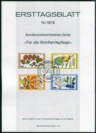 Berlin - 1979 ETB 14/1979 - Mi 607 / 610 - Blätter, Blüten, Früchte Des Waldes, Wohfahrtsmarken 79 - FDC: Hojas