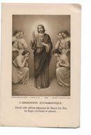 Image Religieuse Souvenir Communion Solennelle Elisabeth Gillard Loupoigne 1927 - Devotion Images