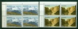 ICELAND 1986 Mi 648-49 Blocks Of Four** Europa CEPT – Environment Protection [A6403] - 1986