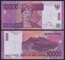 Indonesien - Indonesia 10000 10.000 Rupiah 2005/2006 Pick 143b UNC (1)    (21485 - Banknotes