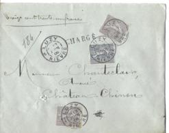Env Chargée Cad LUZY 12 Juin 1906 TTB - 1877-1920: Semi-moderne Periode