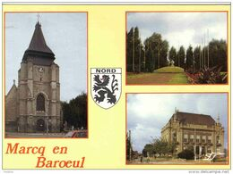 Carte Postale 59. Marcq-en-Baroeul  Blason Trés Beau Plan - Marcq En Baroeul