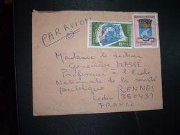 LETTRE Par AVION Pour La FRANCE TP TAMATAVE 80F + TP CHEMINS DE FER 85 Fmg OBL.MEC.23-6 1980 TANANARIVE RP - Madagaskar (1960-...)