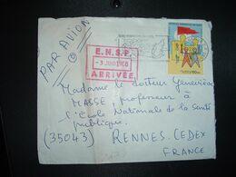 LETTRE Par AVION Pour La FRANCE TP PAOSITRA 1979 60 FMG OBL.MEC.28-5 1980 TANANARIVE RP - Madagaskar (1960-...)