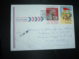 LETTRE Par AVION Pour La FRANCE TP PAOSITRA 1979 60 FMG + TP JEAN VERDI SALOMON 25 FMG OBL.MEC.21-1 1981 TANANARIVE RP - Madagascar (1960-...)